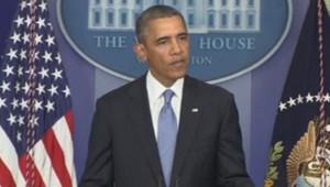 Barack Obama s'exprime sur le budget, quelques heures avant la limite du vote, le 30 septembre 2013.