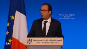 En cette journée de fête du travail, Hollande promet des créations d'emplois
