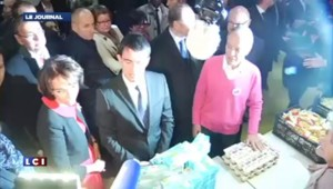 Manuel Valls inaugure la campagne hivernale des Restos du coeur