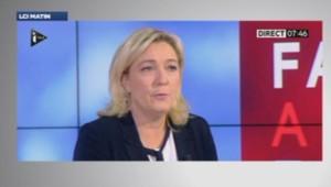Marine le Pen sur ITélé le 10/01