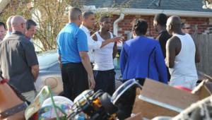 Obama s'est rendu en Louisiane pour inspecter les dégâts d'Isaac, le 4 septembre 2012.