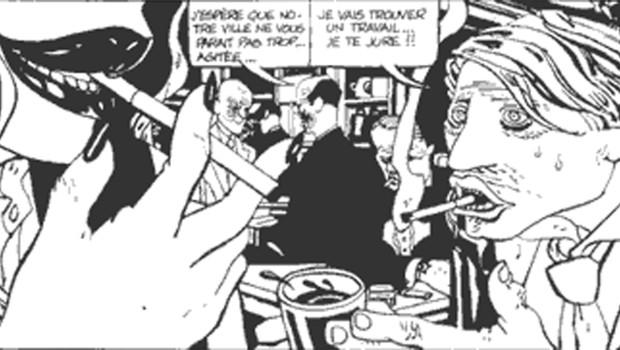 Extrait d'une BD 'Alack Sinner' de José Munoz