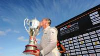 L'Écossais David Coulthard, ancien pilote de F1 et désormais consultant pour la BBC, vainqueur de l'édition 2014 du Trophée des Champions.