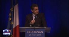 """Sarko-show : """"Quand on voit Manuel Valls tout rouge et Marine Le Pen toute blanche..."""""""