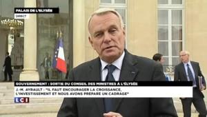 """Ayrault : des économies d'un montant """"sans précédent"""" dans le budget 2014"""