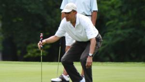 Barack Obama joue au golfe dans le Maryland, juin 2011