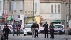 La police sur une scène de crime à Marseille