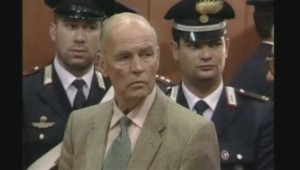 Le criminel de guerre nazi Erich Priebke.