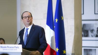 François Hollande à l'inauguration du musée Picasso le 25 octobre 2014
