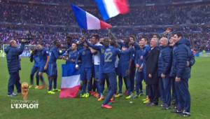 La France a battu l'Ukraine (3-0) et ira disputer la Coupe du Monde au Brésil.