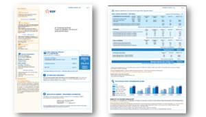 La nouvelle facture simplifiée d'EDF, prévue pour la rentrée 2012