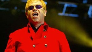 le chanteur Elton John en Chine