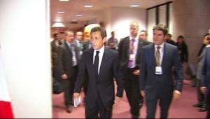 Nicolas Sarkozy à Bruxelles (8 mai 2010)