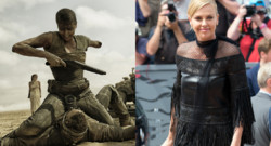 Charlize Theron dans Mad Max Fury Road et à Cannes le 14 mai 2015