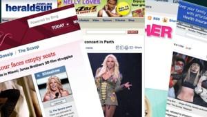 Collection d'articles sur Britney Spears rassemblés sur son site