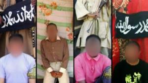 Les quatre Français enlevés par Aqmi le 16 septembre 2010 (les visages ont été floutés)