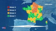 Météo : 22 département placés en alerte orange