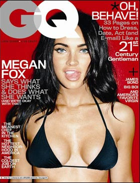 people : Megan Fox en couverture du magazine GQ