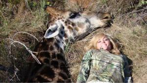 Capture d'écran twitter / Une photo datant de 2010, prise par Rebecca Francis après avoir chassé une girafe
