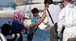 Des migrants sauvés par la marine maltaise le 28.08.2014