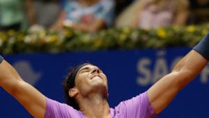 Rafael Nadal au tournoi de Sao Paulo au Brésil le 17 février 2013.
