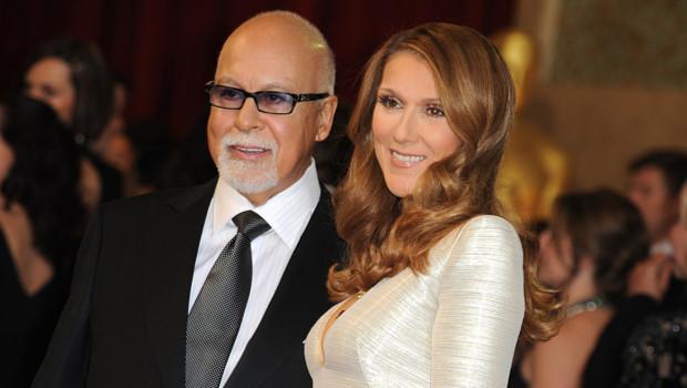 René Angélil et Céline Dion en février 2011.