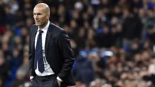 Zinédine Zidane lors de son premier match sur le banc du Real Madrid (victoire 5-0 face à La Corogne), le 9 janvier 2016.