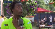 """Gaël Monfils en quart de finale de l'US Open : """"Les conditions de jeu n'étaient pas faciles"""""""