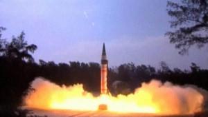 Inde : lancement du missile Agni V, 19/4/12