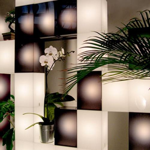 meuble lumineux boîtes
