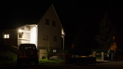 Devant le domicile de la famille endeuillée, mardi 2 septembre, Moernach, Haut-Rhin