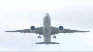 L'A350 d'Airbus en vol
