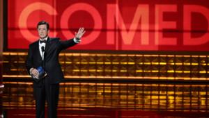 La 64e cérémonie des Emmy Awards au Nokia Theatre de Los Angeles, présentée par Stephen Colbert (23 septembre 2012)