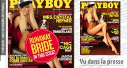 La couverture de Playboy avant et après la rupture entre Hugh Hefner et sa playmate.