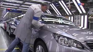 Le 20 heures du 14 mars 2014 : PSA recrute pour construire plus de Peugeot 308 - 891.045