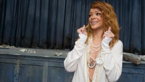 Rihanna au défilé Chanel haute couture à Paris