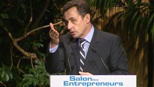 TF1-LCI : Nicolas Sarkozy au salon des entrepreneurs