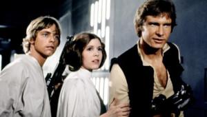 Mark Hamill, Carrie Fischer et Harrison Ford dans le film La Guerre des étoiles