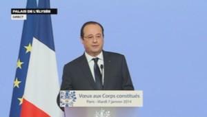 François Hollande présente ses vœux aux Corps constitués. (07/01/2014)