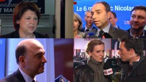 Réactions à gauche et à droite suite au débat de l'entre-deux tours entre Hollande et Sarkozy.