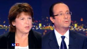 Débat Aubry/Hollande : un numéro d'équilibriste