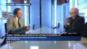 """Hubert Védrine : """"Réunir Obama et Poutine n'est pas possible, c'est trop tôt"""""""