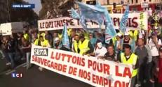 Les salariés de Seita manifestent à Paris