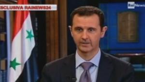 Bachar al-Assad interviewé par la Rai News 24, le 29 septembre 2013.