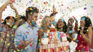 Célébration d'un anniversaire - Image d'illustration