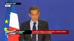 """Fusillade à Charlie Hebdo : """"Atteinte sauvage à la liberté d'expression"""" selon Sarkozy"""