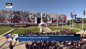 """Hollande rend hommage aux victimes du Débarquement : """"Ce jour-là nous éclaire encore"""""""
