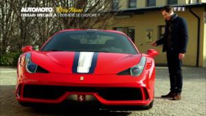 L'essai vidéo de la Ferrari 458 Speciale A dans le Plein Phare de l'émission Automoto du dimanche 22 février 2015