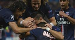 Marco Verratti, David Luiz... fêtent la victoire du PSG contre le Barça 30/09/2014