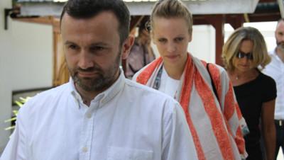Thomas Dandois et Valentine Bourrat, les deux journalistes français arrêtés en Indonésie.